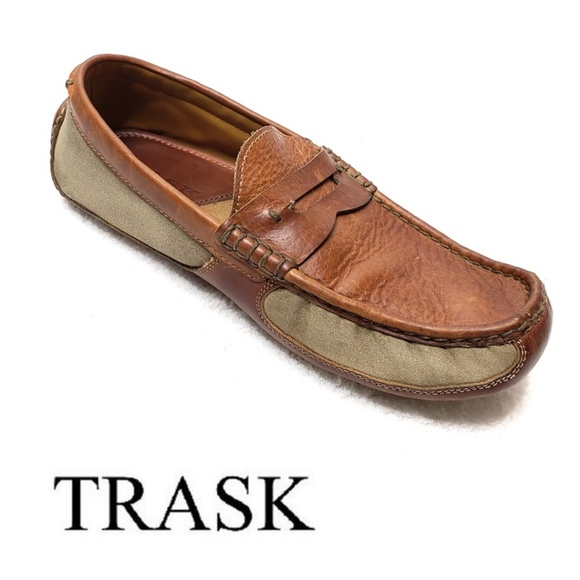767455bfee93a Trask Shoes | Derek Bison Driving Moccasins Handsewn Canva | Poshmark